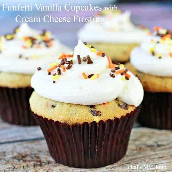 Funfetti Vanilla Cupcakes