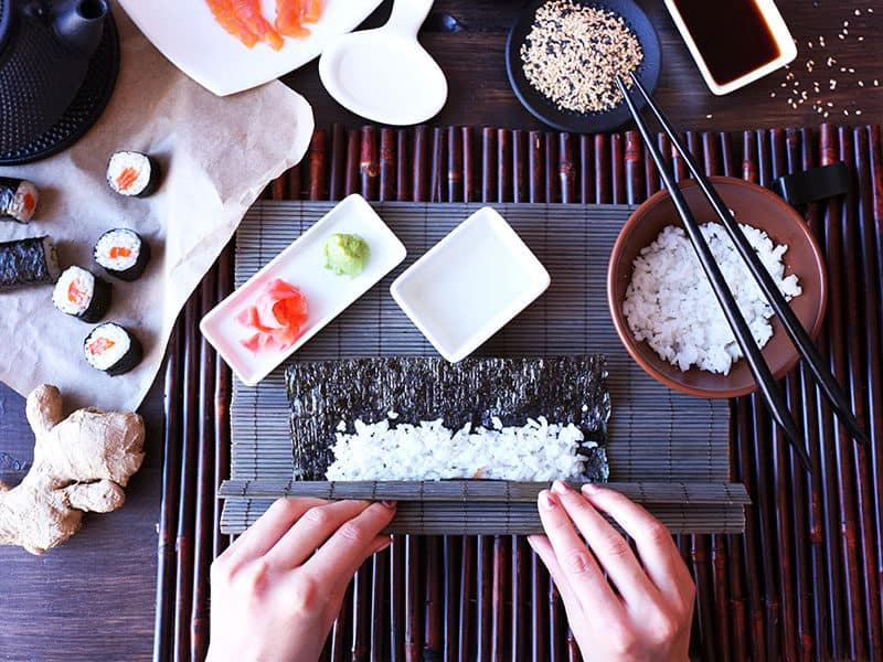 Making Sushi Rolls Top