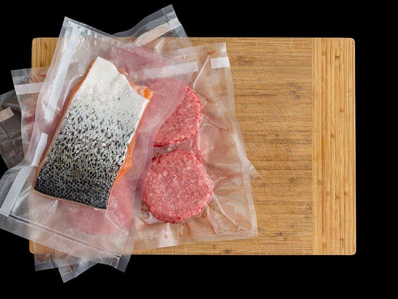 Salmon Beef Burger Patties Vacuum Packed
