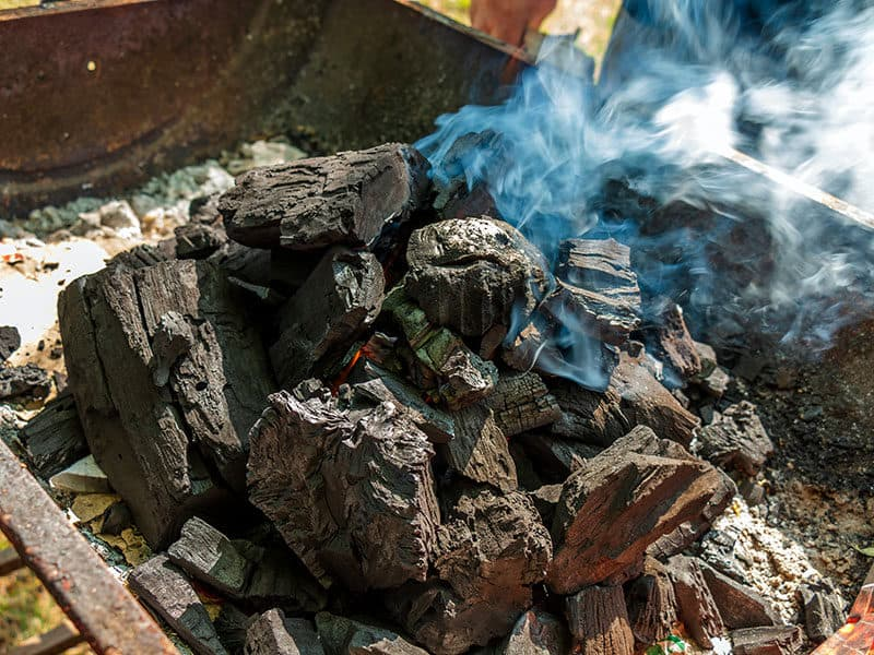 Burnt Lumps Charcoal Bbq