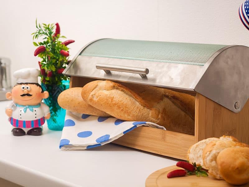Breadbox Made Wood Metal