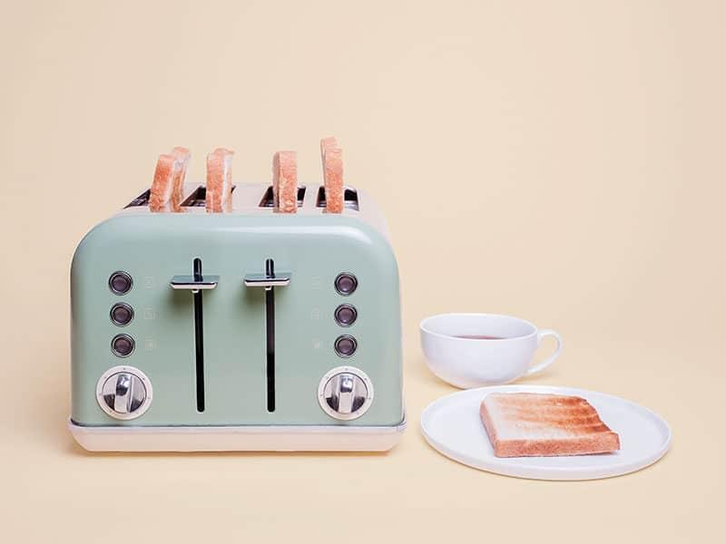 Retro Green 4 Slice Toaster Four