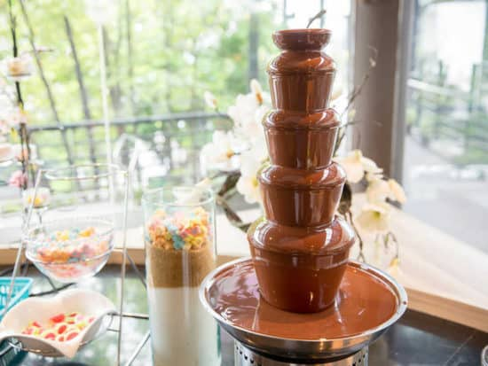 Chocolate Fountain Fontain On A Birthday Party