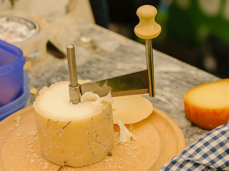 Rotary Cheese Grater on Round