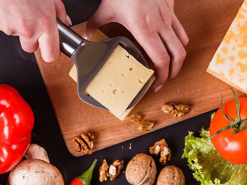 Slicing Cheese Gray Apron