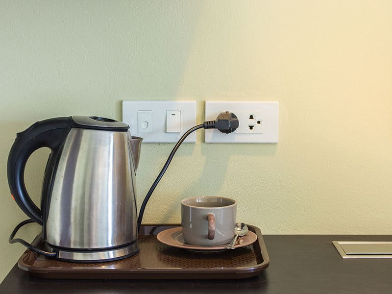 Cups Electric Kettle Plugged