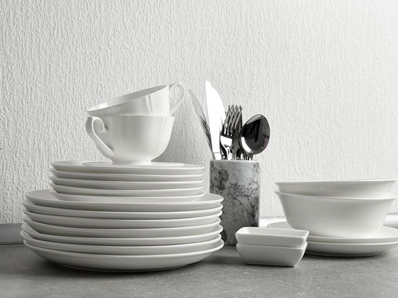 Set Clean Dishes Cutlery