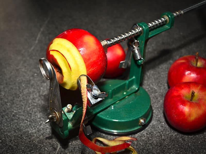 Red Apples Peeled Sliced Mechanic