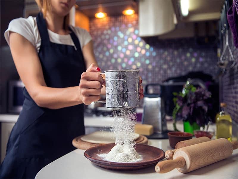 Flour Through Sieve Kitchen